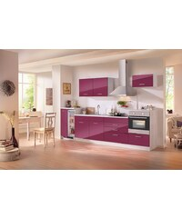 HELD MÖBEL Küchenzeile mit E-Geräten »Le Mans«, Breite 300 cm