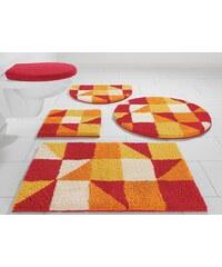 Badematte, Hänge WC-Set, my home Selection, »Denise«, Höhe 20 mm, Microfaser (3-tlg.)