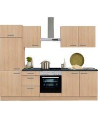 Küchenzeile mit E-Geräten, Optifit, »Odense«, Breite 270 cm