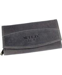 Dámská kožená peněženka Wild Tiger AD-28-042M, černá, broušená kůže {name}