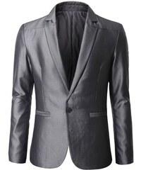 Extravagantní pánské sako šedé