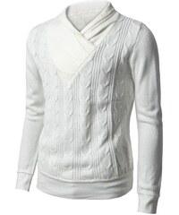 Pánský svetr elegantní bílý