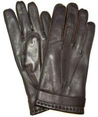 Pánské kožené rukavice z italské jehnětiny hnědé