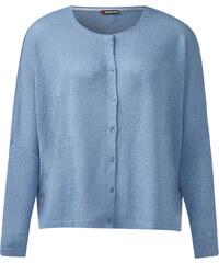 Street One Bouclé-Shirtjacke Alesia - manor blue, Damen