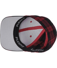 Flexfit Plaid Cap red/black