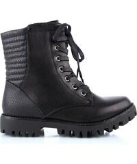 Ctogo GOGO Kotníkové boty s kožíškem 6022-1B
