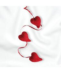 Lesara 3er-Set Herz-Girlande mit Glitter
