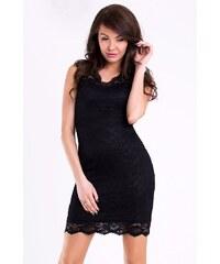 Dámské párty společenské krátké krajkové šaty EMAMODA černé