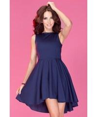 S-a-F SHIM.cz dámské šaty ASYMETRIC 333 exkluzivní vyrobené z vysoce kvalitního materiálu Lacoste modré