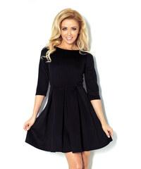 S-a-F Dámské elegantní značkové společenské šaty NUREK 772 se sklady na sukni krátké černé