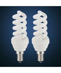 Lesara 2er-Set Energiesparlampe E14/13W