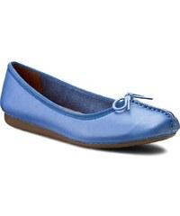 Ballerinas CLARKS - Freckle Ice 261155804 Blue Leather