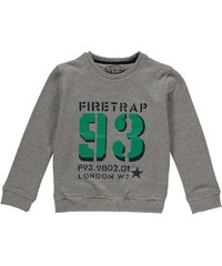 Firetrap Crew Sweater dětské Boys Grey Heather