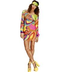Smiffys Hippie šaty s čelenkou - L