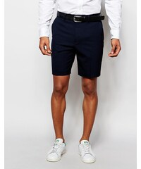 ASOS - Eng geschnittene Shorts in Marineblau - Marineblau