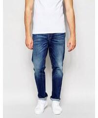 Esprit ASOS - Jean droit délavage moyen - Bleu - Bleu