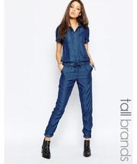 Noisy May Tall - Combinaison manches courtes avec cordon de serrage à la taille - Bleu
