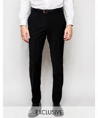 Number Eight Savile Row - Pantalon skinny en laine mélangée stretch en exclusivité - Noir