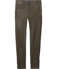 GANT Pantalon Crop 5 Poches En Cuir Stretch - Hunter Green