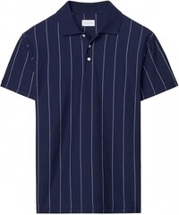 GANT Rugger Polo à Fines Rayures - Classic Blue