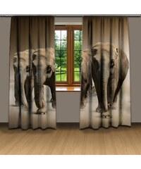 Xdecor Stádo slonů (140 x 250 cm) - 3D závěs