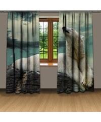 Xdecor Lední medvěd (140 x 250 cm) - Dekorační závěs