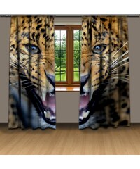 Xdecor Gepardí řev (140 x 250 cm) - 3D závěs