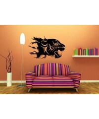 Xdecor Hořící tygr (98 x 60 cm) - Samolepka na zeď