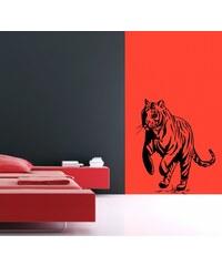 Xdecor Skákající tygr (50 x 41 cm) - Samolepka na zeď