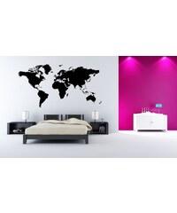 Xdecor Mapa světa (98 x 50 cm) - Samolepka na stěnu