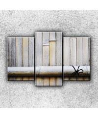 Xdecor Bambusový plot (75 x 50 cm) - Třídílný obraz