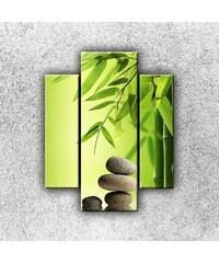 Xdecor Oblázky s bambusem (70 x 55 cm) - Třídílný obraz