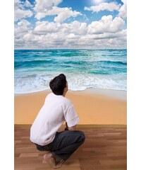 Xdecor Pláž (126 x 94 cm) - Fototapeta na zeď