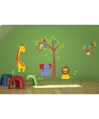 Xdecor Dětská zvířátka 1 - Barevná samolepka na stěnu