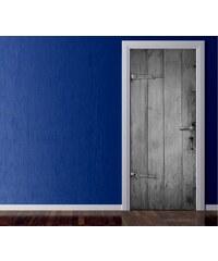 Xdecor Dřevo (92 × 210 cm) - Živá dekorace na dveře