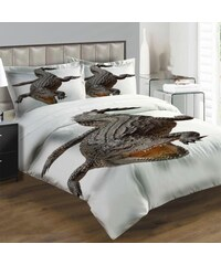 Xdecor Krokodýl 200 x 140 cm, 90 x 70 cm - Povlečení