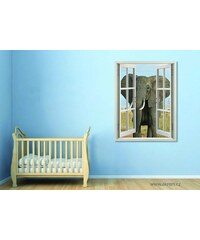 Xdecor Slon (80 x 62 cm) - Okno živá dekorace