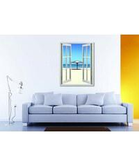 Xdecor Výhled na pláž (130 x 100 cm) - Okno živá dekorace