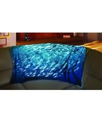 Xdecor Hejno ryb 150 x 120 cm - Fleecová deka