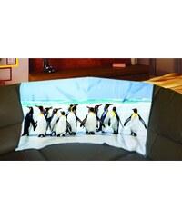 Xdecor Tučňáci 150 x 120 cm - Fleecová deka