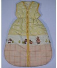 JAN Pytlík na spaní zimní verze 80 cm Medvídek s kočárkem růžový