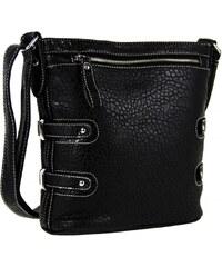 Tapple Crossbody kabelka s jemným kroko vzorem 611-2 černá