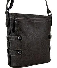Tapple Crossbody kabelka s jemným kroko vzorem 611-2 extra tmavá šedá
