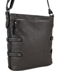 Tapple Crossbody kabelka s jemným kroko vzorem 611-2 tmavá šedá