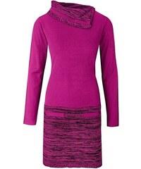 Pletené šaty s dlouhým rukávem bonprix