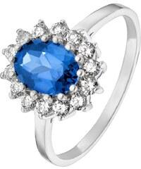 CHRIST Silver Ring silber/blau