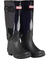 Hunter Damen Original Clear Leg Wellington Mid Gummistiefel Dunkelblau