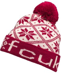French Connection Herren FCUK Bobble Beanie Mütze Rot