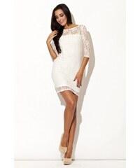 KATRUS Dámské šaty K109 ecru