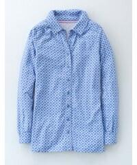 Lange Jerseybluse Blau Damen Boden